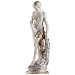 Marble Statue Bather or Nymph Going in the Bath after Falconet
