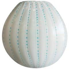 Light Blue Blown Glass Vase
