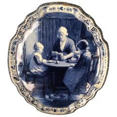 Original Delft Picture Plate Porcelain Blue Hand Painting