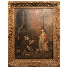 Poultry Seller Oil Painting 1870 Fine Quality to Gabriel Metsu Netherland