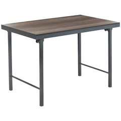 New Folding Table with Wood Top and Iron Structure