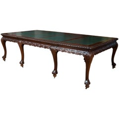 Extending Table Mahogany, Metal, Etc, England, circa 1930