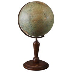 German Globe circa 1900 with Compass