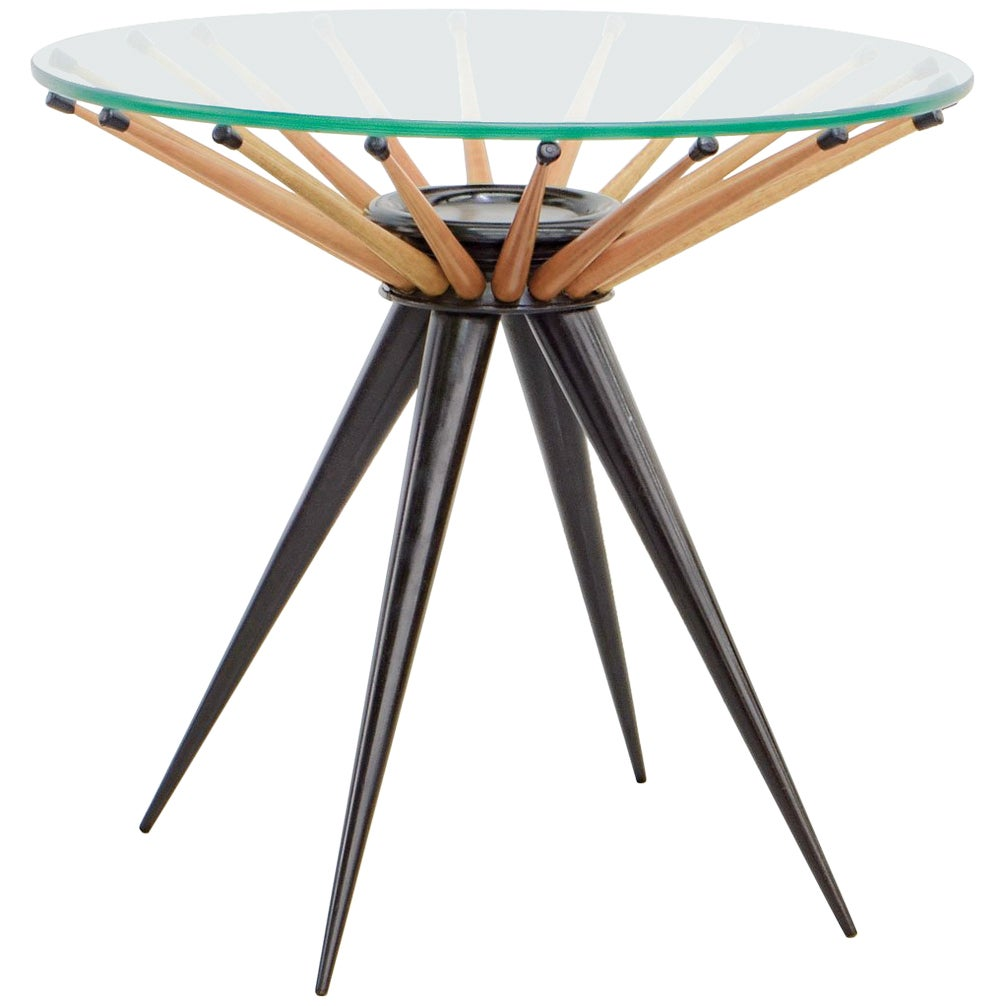 1960s Brazilian Side Table in Wood, by Giuseppe Scapinelli