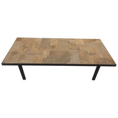 Vintage Brutalist 1970s Coffee Table by Pia Manu