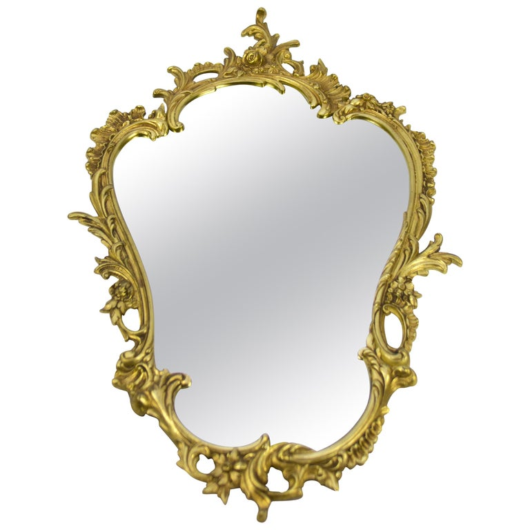 Louis XV Style Wall Mirror in Bronze For Sale