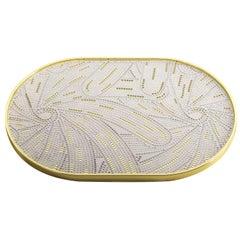 Petali Capsule Gold Tray by Matteo Cibic