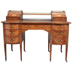 19. Jahrhundert Intarsien Mahagoni-Schreibtisch