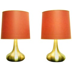"Pair of Large Danish ""Orient"" Table Lamps by Jo Hammerborg for Fog & Morup"
