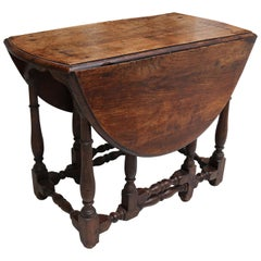 18th Century English Oakwood Folding Table