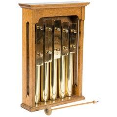 Victorian Oak Cased Set of Five Gongs