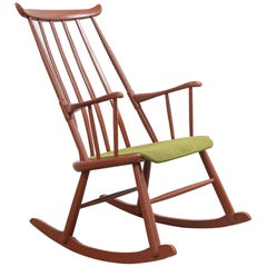 "Midcentury Scandinavian ""Sørlandsstolen"" Rocking Chair Produced by Hødnebø"