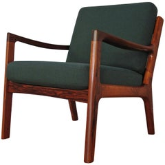 Rosewood Edition Ole Wanscher Senator Chair For France & Son
