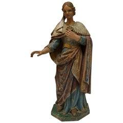 Polychrome Statue of Saint,  19th, Church Decoration