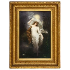Large and Exceptional Berlin KPM Porcelain Plaque of Female Maiden, Dietrich