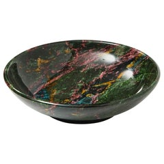 Rare and Large Decorative Green Jasper Bowl Centrepiece