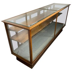 Large Rectangular Display Case Cabinet by G.R. Fixtures for Barlow Mfg. Cop