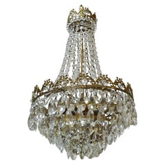 Small Crystal Chandelier, Bohemian Crystal