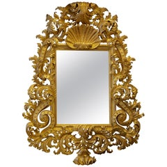 Hand Carved, Baroque Style Mirror, Gilt in 23.75-Karat Gold by La Maison London