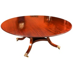 Vintage Round Mahogany Table by William Tillman, 20th Century