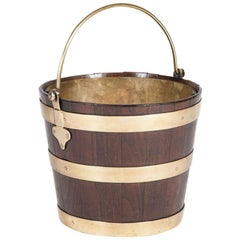Brass Bound Elm Peat Bucket
