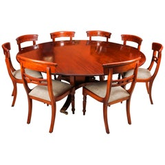 Vintage Round Table and 8 Chairs William Tillman, 20th Century