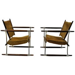 Pair of  'Stokke' Chairs by Jens H. Quistgaard, Nissen, Denmark, 1966