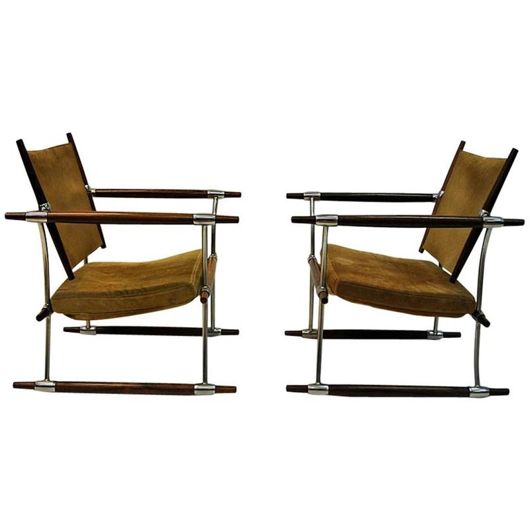 Pair of  'Stokke' Chairs by Jens H. Quistgaard, Nissen, Denmark, 1966 For Sale