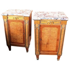 French Empire Revival Marble-Top Cabinets