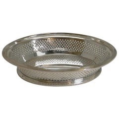 Antique English Silver Plated Bread Basket by Atkin Brothers, Reg. 1873