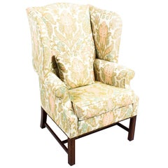 Vintage Chippendale Revival Wingback Chair Armchair, 20th Century