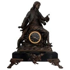 Französischer Mantel Clock Tisch Uhr Marmor Antik alte Extra groß