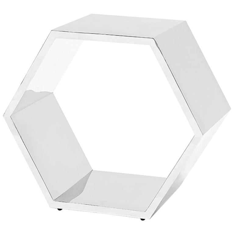 Chrome Stool or Side Table