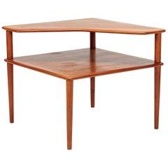 Peter Hvidt Minerva Corner Table France and Son Teak, 1960s