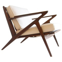 Pair of Mid-Century Modern Z Chair by Poul Jensen for Selig