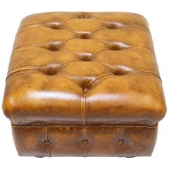 Chesterfield Hocker Antik Stuhl Club Leder Couch Vintage