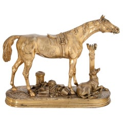 Bronze Horse by Moigniez, Second Half of the 19th Century