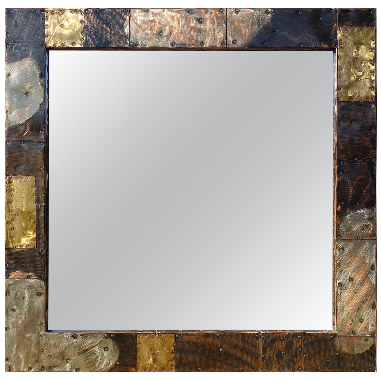Midcentury Paul Evans Patchwork Mirror