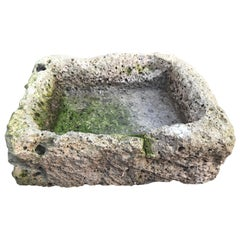 Anfang des 19. Jahrhunderts Französisch vulkanischen Felsen Trog /Sink/ Brunnenbecken