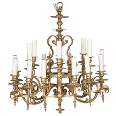 Gilt Bronze 18-Light Chandelier