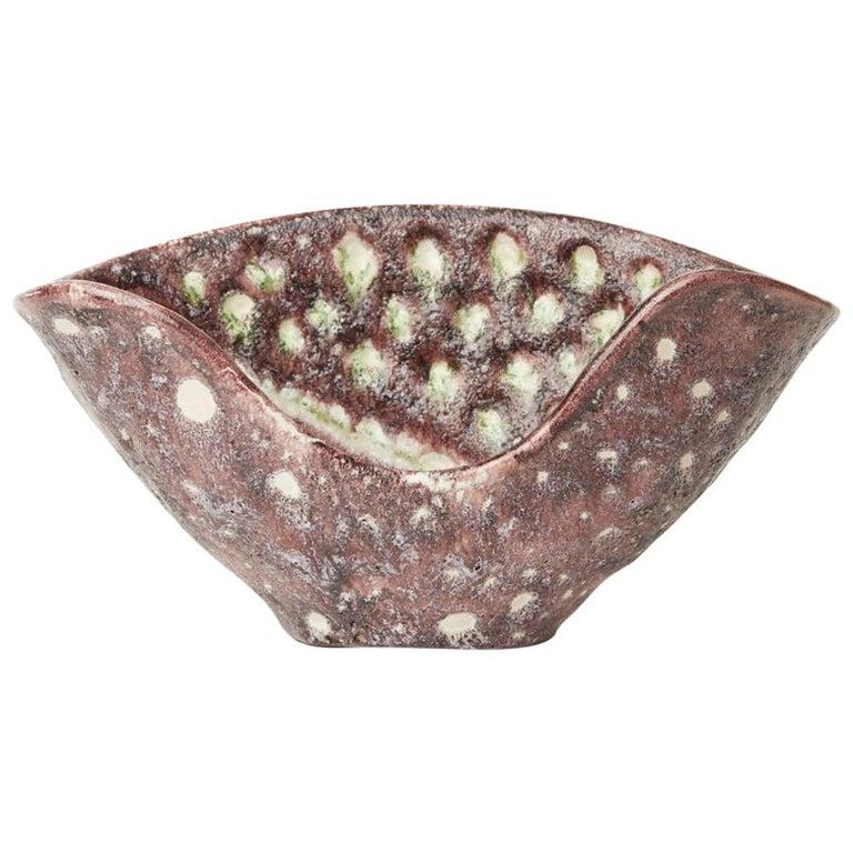Guido Gambone Italian Volcanic Glazed Bowl, Mid-20th Century 1