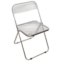 Vintage Set of Four Lucite Folding Chairs by Castelli