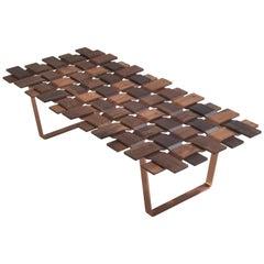 Walnut Grid Bench in Solid Walnut