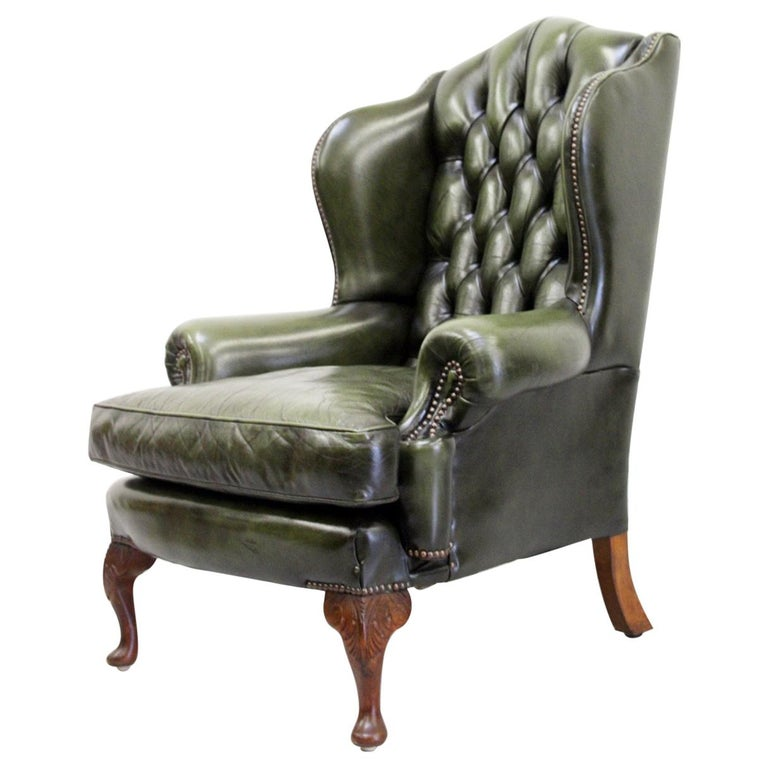 Chesterfield Wing Chair Armchair Recliner Antique For Sale At 1stdibs