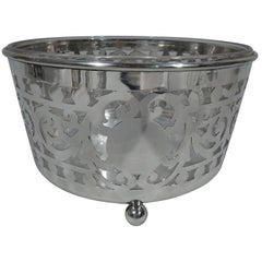 Large Antique Gorham Edwardian Pierced Sterling Silver Ice Bucket