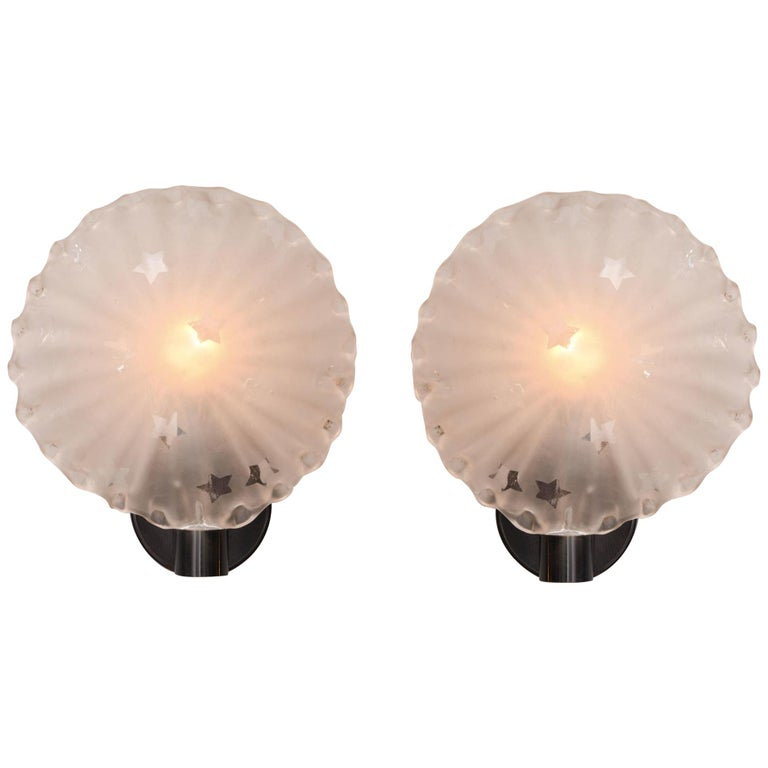 Pair of 1950s Italian 'Star' Wall Lights For Sale