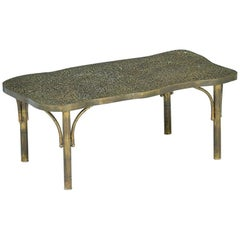 "Acid Etched Bronze Patinated ""Etruscan""  Coffee Table by Philip and Kelvin Laver"