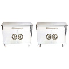 Hollywood Regency Mirrored Commodes