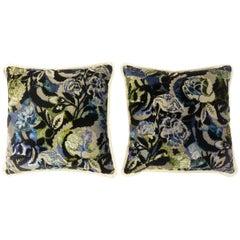 Cut Velvet Rose Pattern Pillows