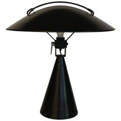 Big Italian Black Table Lamp Attribute to Martinelli Luce, circa 1962